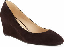 Nine West Ispy Brown Suede Wedge Courts UK 4 EU 37 Wide rrp £85 EM12 11 SALEem