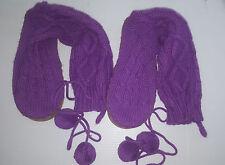 VICTORIA SECRETS Cable Knit Booties Mukluks Socks Boots Slippers Sz 9/10 Purple