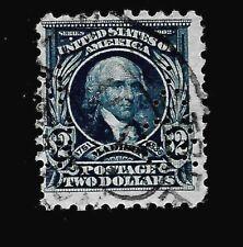 US 1909 Sc# 479 $2.00 MADISON  Used Perfin - Crisp Color