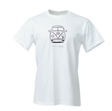 Vw White Crying Bus T-Shirt.NWT.Official License.Sizes: SM(1) MD(2) XL(2) 2XL(2)