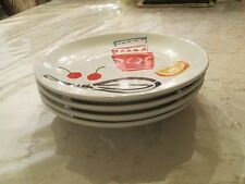 KATE SPADE  ALL IN GOOD TASTE PRETTY PANTRY SET OF 4 PLATES