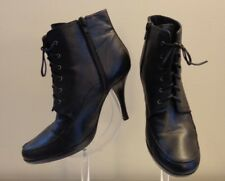 "Rylee Awesome VINTAGE Black Lace-up Side Zip 4""Heel Ankle Boot Shoes  Size 7"