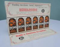 Vintage Advertising Display Counter Sign Shop Chemist Enerjoids Tablets 1930s