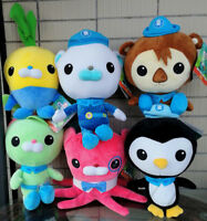 6PCS Octonauts Shellington Inkling Peso Tweak Barnacles Tunip Plush Soft Toys
