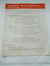 A Boosey & Hawkes ltd of London -Information Bulletin -Light Music News For 1962