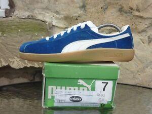 Vintage 1970s PUMA Bluestar UK7 Made In Italy Rare OG Blue White Suede Gum 70s
