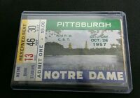 1957 PITT PANTHERS vs NOTRE DAME October 26th