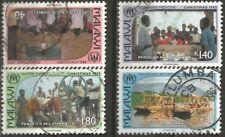 MALAWI 1995 CHRISTMAS Sc#647-50 COMPLETE POSTALLY USED SET 1272
