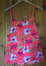 Fab Floral Summer Top/New & Tags/By Golddiga/Uk 14/Strappy/Holidays/Coral