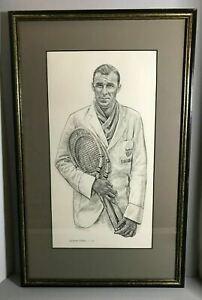 Vintage Bill Tilden - Framed Sports Illustrated Print - Robert Riger - Tennis