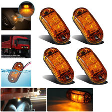 4x Universal Auto Amber Surface Mount Clearance Side Fender Marker Trailer Light