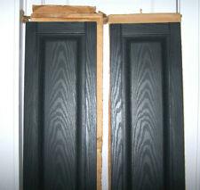 Sale Window Shutters Outdoor Raised Panel Vinyl Wood Look Pair Black Exterior