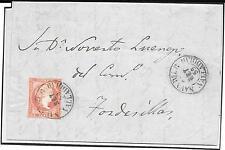 España. Carta circulada con fechador NAVA DEL REY sobre sellos de 4 ctos