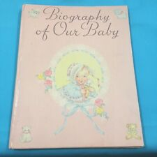 Biography Of Our Baby 1931 Baby Record Book Birth to Seven Years Unused Adorable