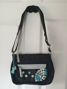 Radley Ladies Blue And Black Across Cross Body Bag Handbag