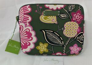Vera Bradley Olivia Pink Neoprene Tablet eReader Sleeve 10x8 Padded Zipper L31