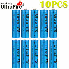 10X UltraFire 18650 Rechargeable 3.7v Li-ion Battery For LED Flashlight Cell US