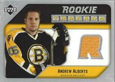 2005-06 Upper Deck Rookie Threads Andrew Alberts Jersey (yellow) - NM-MT
