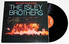 ERNIE ISLEY SIGNED THE ISLEY BROTHERS GO FOR YOUR GUNS LP VINYL RECORD AUTO +COA