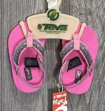 Teva Mush Infant Baby Hula Girl'S Sandals 6085 New (Hula Girl Pink ) Nip