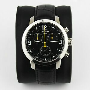 Tissot PRC 200 Chronograph Black Face and Leather Strap With Box T055.417.16.057
