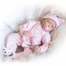 55cm silicone vinile Reborn infantile Bambola ragazza Fatto a mano regalo XMAS