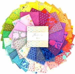 Free Spirit Fabrics Tula Pink True Colors Five Inch Charm Squares Pack (42 sqs)