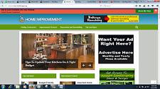 Established home improvement  Clickbank adsense wordpress website ads placement