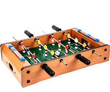 + biliardino calcio balilla tabletop in legno nuovo scatolato 51x31cm.