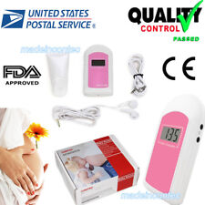 USA 3-6 days LCD Pocket Fetal Doppler,pregnant Baby Heart Rate Monitor Free Gel