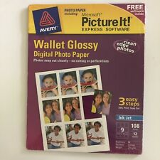New Avery Microsoft Picture Wallet Glossy Express Software Digital Photo Paper