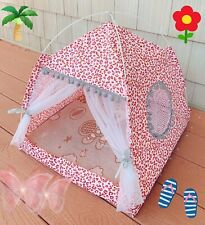Large Puppy Pet Dog Cat Bed Cushion House Fleece Cool Warm Kennel Mat Pink