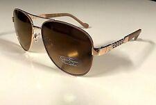 8d845adc641 New JESSICA SIMPSON Women s Aviator Sunglasses Pilot Eyewear Gold Nude  Authentic