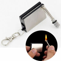 Permanent Metal Match Box Lighter Cigarette Camping Keyring Novelty Gift New A