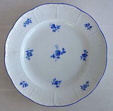 Meissener Porzellan, Teller 19.Jh, perfekte blaue Blüten, Streublümchen Korbrand