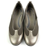 Ecco Womens Shoes 36 Bluma Flats Bronze Meatallic Slip On Comfort Foam New