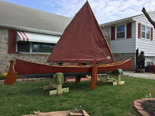 1992 Atkinson Traveler Plank and Canvas Sail Canoe (Price Reduced)
