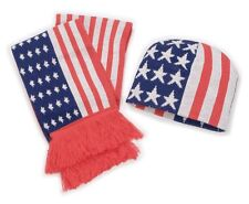 Schal Mütze Beanie USA Strickmütze Stars and Stripes Set Wintermütze Flagge