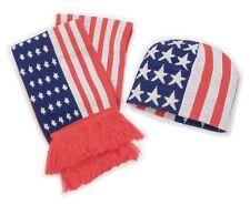 Schal Mütze Beanie USA Strickmütze Stars and Stripes Set Wintermütze Flagge