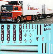 Volvo F16 H.P.Therklesen Padborg 1:87 Truck Decal sticker