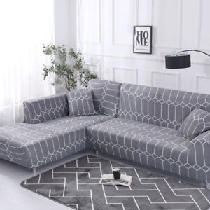 Fashion1-4 Seats Kaleidoscope Elastic Stretch Sofa Couch Covers For Living Room