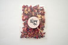 50 Real Petal Natural Wedding Confetti Bags Pink Red Biodegradable Throwing