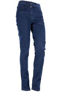 Cecil Toronto Jeans Stretchjeans Cropped Damen Slim Fit High Waist Dunkelblau