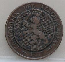 1877 Nederland The Netherlands 2 1/2 cent 1877 - 2,5 cent 1877 Willem 3 KM# 108