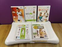 Nintendo Wii Fit Board with (5) Games | Wii Fit/Plus | Wii Active Cardio Workout