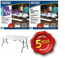 Cosco 6' Centerfold Table White Folding Portable 6-Feet 6' Camping Party Picnic