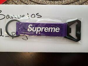 supreme purple webbing bottle opener
