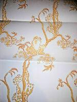 VTG Orange Tree Frog Brunschwig & Fils Wallpaper Kitsch Hand Print CE Tausch