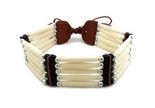 Handmade Native American Style 5 Row Buffalo Bone Hairpipe Choker Necklace