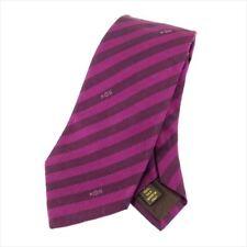 Louis Vuitton Neck Tie Purple Mens Authentic Used T7210